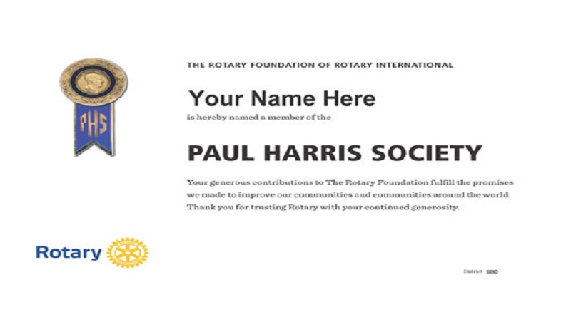 Paul Harris Society : Sustaining Rotary's impact around the World